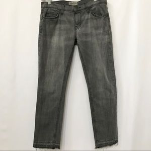 CURRENT ELLIOTT CROPPED STRAIGH GRAY JEANS 26